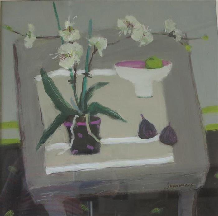 White Orchids with Figs