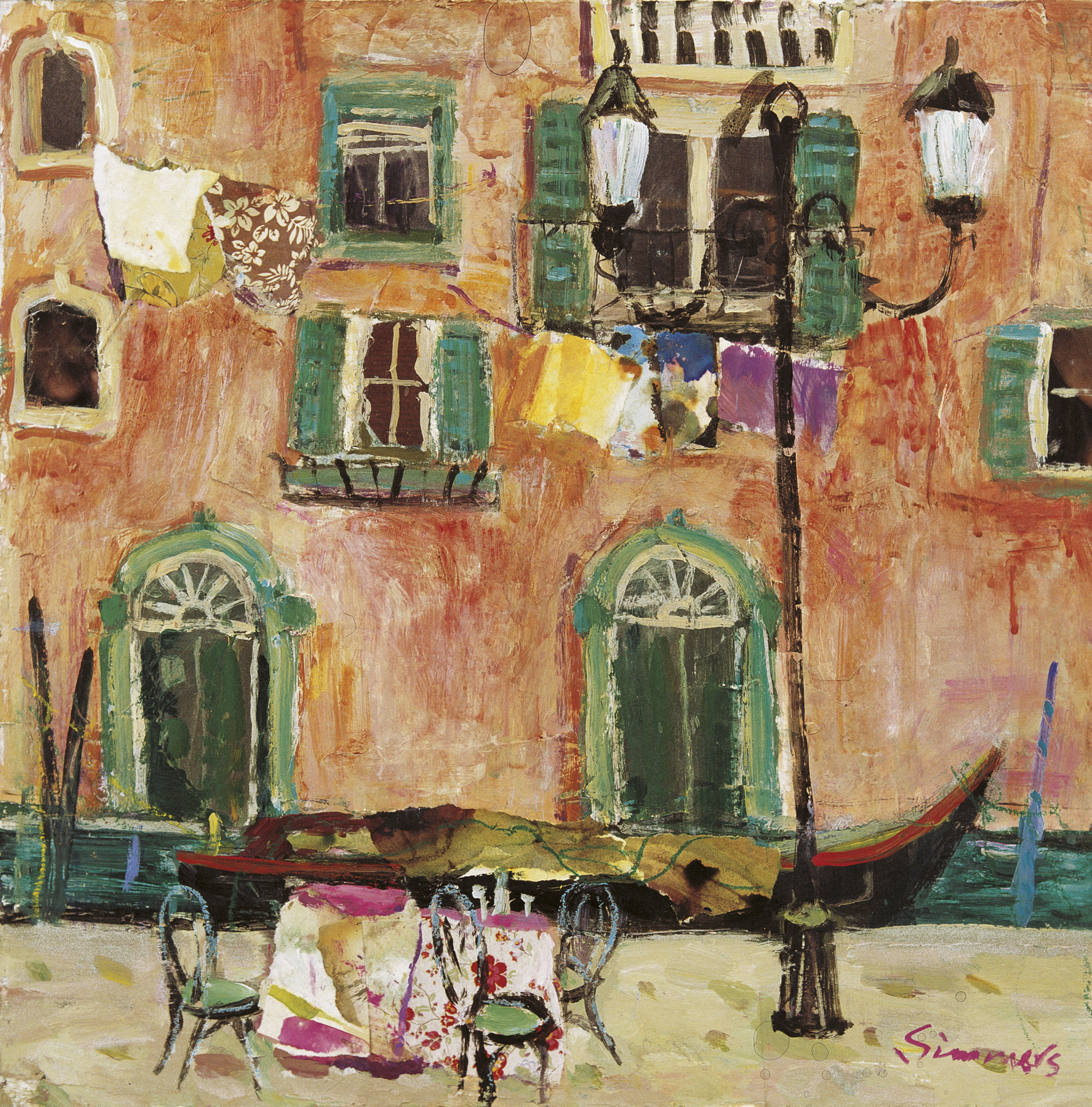 Cafe Along The Canal Venice